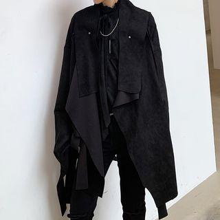 Bjorn - 仿麂皮不對稱夾克