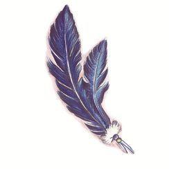 Mauvola - Feather Print Waterproof Temporary Tattoo