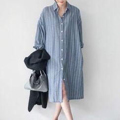 Mimi Lulu - Striped Midi Shirtdress