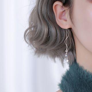 FOON - 925 Sterling Silver Star Threader Earrings