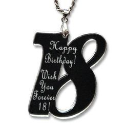 Sweet & Co. - Sweet 18 Happy Birthday Mirror Necklace