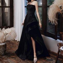 Rosita - 无带贴布绣A字晚礼服