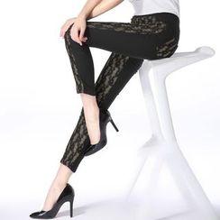 Loville - Lace Panel Leggings