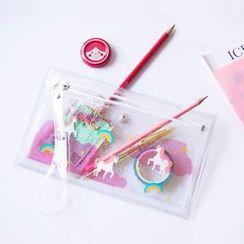 KIITOS - Unicorn Print Transparent PVC Pencil Case