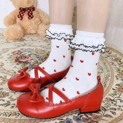 Sayaka - All Over Heart Socks
