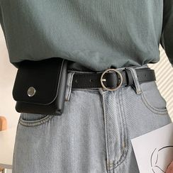 Ayame - Faux Leather Belt Bag