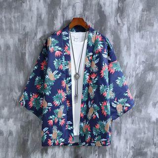 DuckleBeam - Open Front 3/4-Sleeve Kimono Jacket