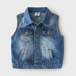 Seashells Kids - Kids Denim Button Vest
