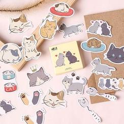 Milena - Pegatinas de gato (varios diseños)