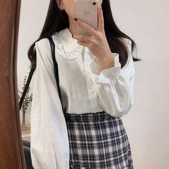 Tangihouse - 皱摺娃娃领衬衫