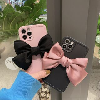 SIFFU(シフウ) - 3D Bow Phone Case - iPhone 12 Pro Max / 12 Pro / 12 / 12 mini / 11 Pro Max / 11 Pro / 11 / SE / XS Max / XS / XR / X / SE 2 / 8 / 8 Plus / 7 / 7 Plus
