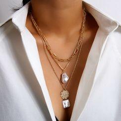 Seirios - 仿珍珠搭层项链