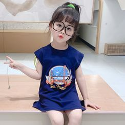 ChibiJia - Kids Sleeveless Graphic Print Dress
