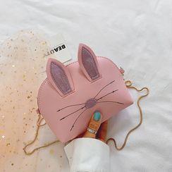 Szeta - 小童仿皮小兔斜挎包