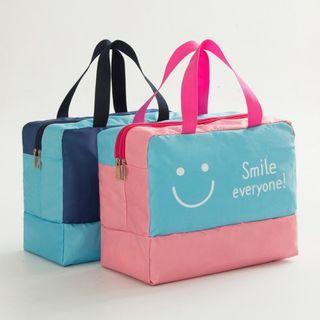 Bandify - 笑臉印花插色乾濕沙灘袋