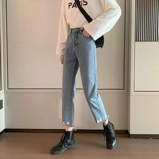 Sisyphi(シシピ) - Crop Straight Fit Jeans