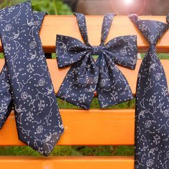 Prodigy - Zodiac Print Neck Tie / Bow Tie