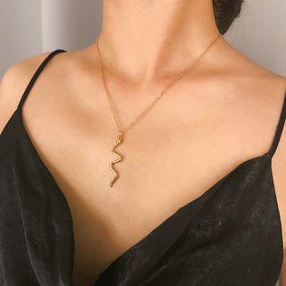 Seirios - Alloy Snake Pendant Necklace
