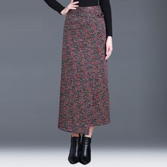 Cocabelli - Patterned Midi A-Line Skirt