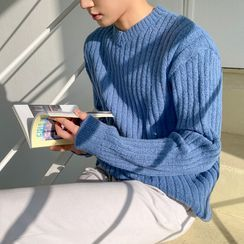 匡亿 - 纯色V领毛衣