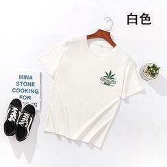 Carmenta - Couple Matching Short-Sleeve Printed T-Shirt