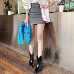 DEEPNY - High-Waist Mini Pencil Skirt