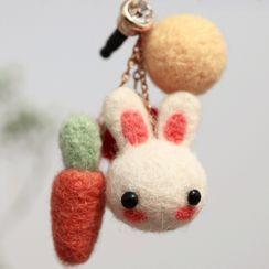 Crockett - 小兔及红萝卜DIY毛毡手机挂饰