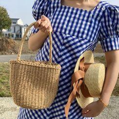 Birravin - Straw Bucket Bag