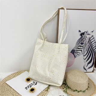 Behere - Flower Print Tote Bag
