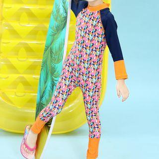Roseate - 小童圖案連身裙防曬衣
