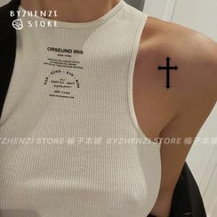 HANZ HAZEL(ハンズヘイゼル) - Cross Waterproof Temporary Tattoo