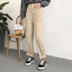 Moon City - Wide Leg Corduroy Pants