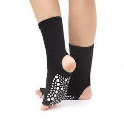 AUM - Half  Toe Yoga Grip Socks