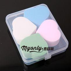 Marlliss - Transparent Plastic Makeup Sponge Case
