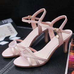 Freesia - 高跟踝带凉鞋