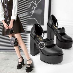 安若 - 粗跟厚底鞋