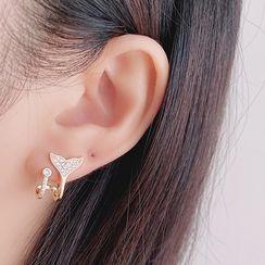 Mimishi - Fishtail Ear Stud / Clip-On Earring