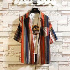 Andrei - 短袖條紋襯衫