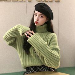 Altosa - 高領羅紋毛衣