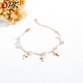 Tenri - Cross Pendent Bracelet