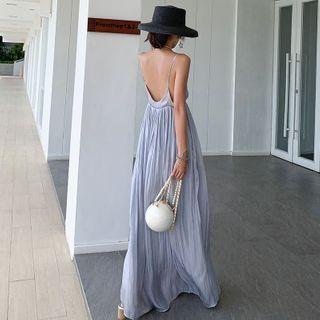 Leonnah - Open-Back V-Neck Maxi Sundress