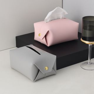 miss house - Faux Leather Tissue Cover