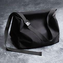 TESU - Nylon Plain Crossbody Duffel Bag
