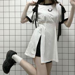 Florimi - 短袖蝴蝶结镂空肩迷你连衣裙 / 系带短裤 / 短袖拉链迷你连衣裙