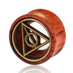 Prushia - 木制及几何合金耳环