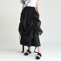 Ultra Modern - Drawstring Midi A-Line Skirt