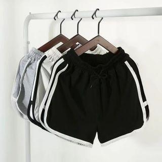 DuckleBeam - Contrast Stripe Drawstring Shorts