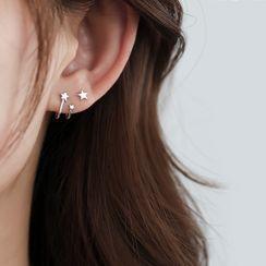 Hansha - 925纯银星星耳环