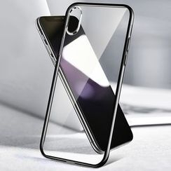 Mobby - Tempered Glass Back Mobile Case - iPhone XS Max / XS / XR / X / 8 / 8 Plus / 7 / 7 Plus / 6s / 6s Plus