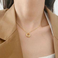Betsuno - 圈環吊墜合金項鏈